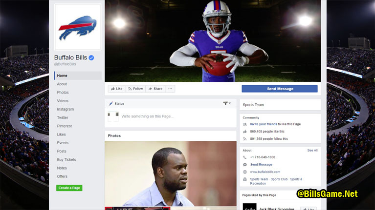 Buffalo Bills Facebook Fans
