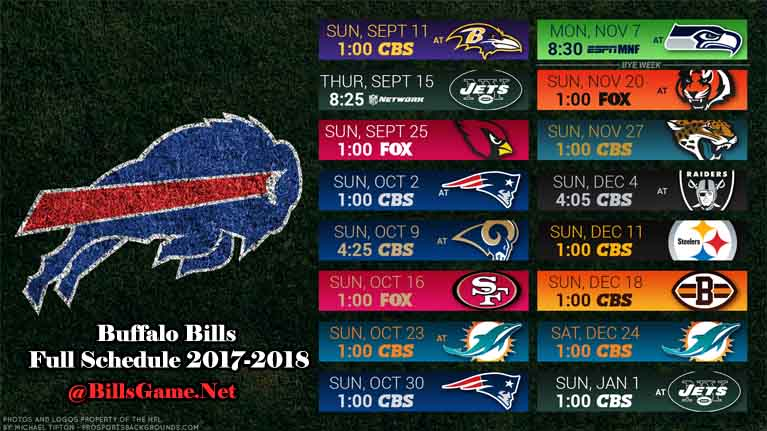 Buffalo Bills Games Schedule