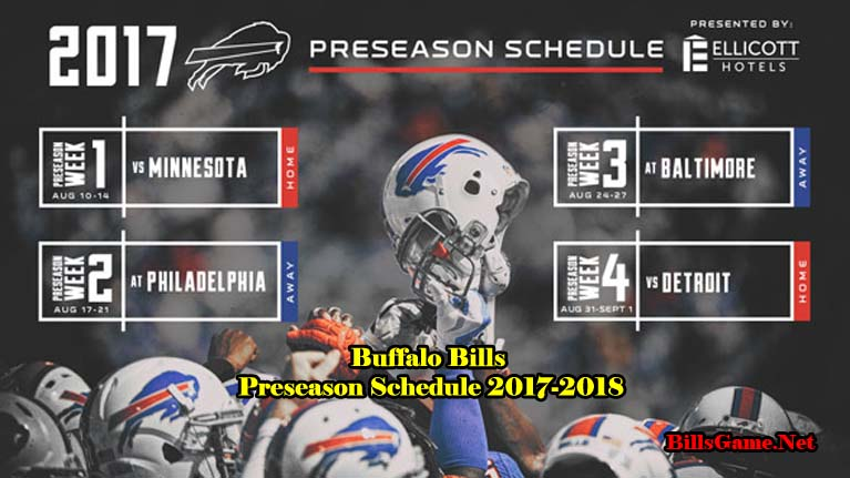 Buffalo Bills Preseason TV Schedule 2017