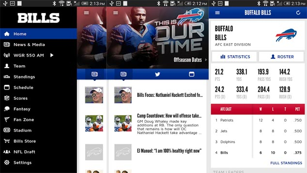 Live Streaming Android Apps Buffalo Bills Football Game